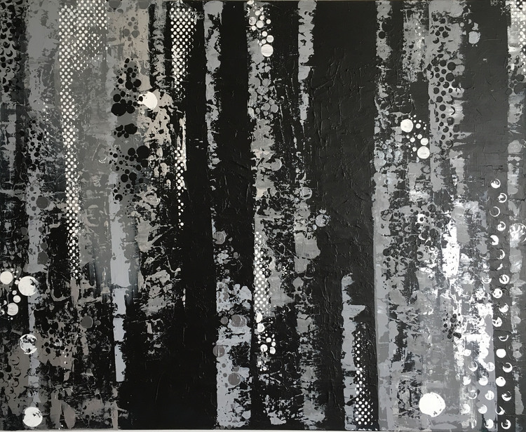 'Steam curtains', 2016, ett konstverk av Roxana Scraba