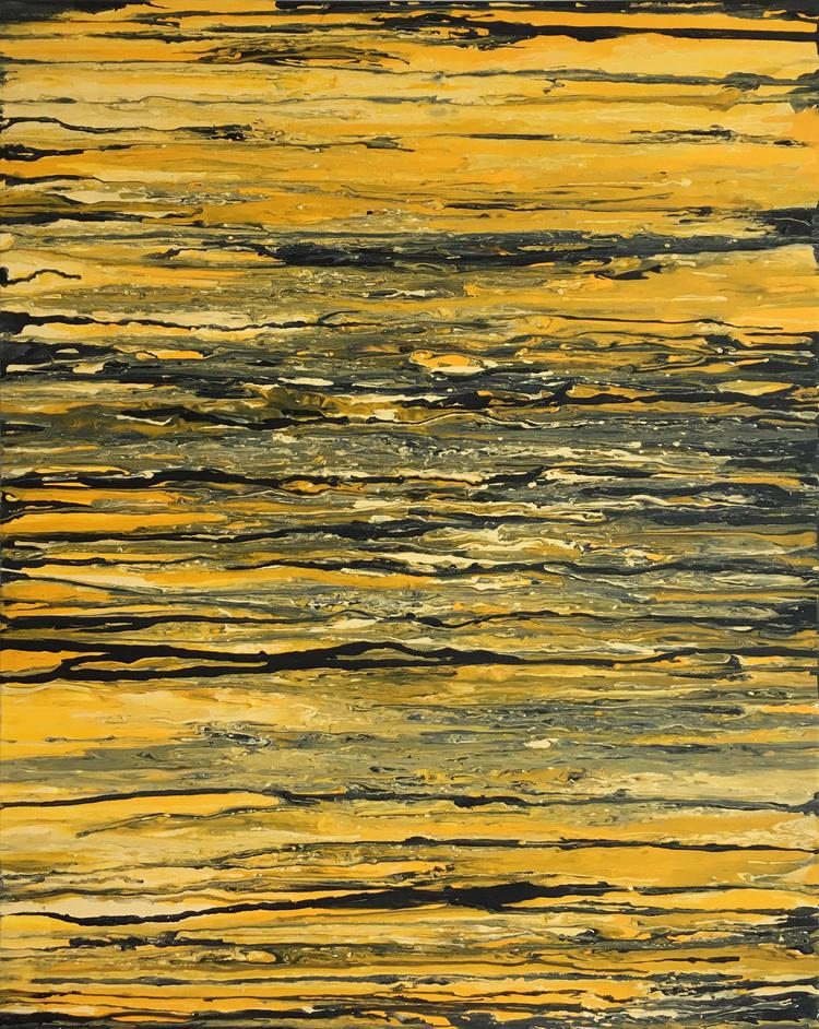 'Yellow marble', 2017, ett konstverk av Roxana Scraba
