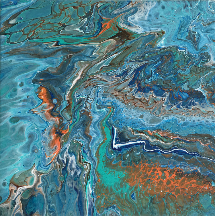 'Aquatica 1', 2017, ett konstverk av Roxana Scraba