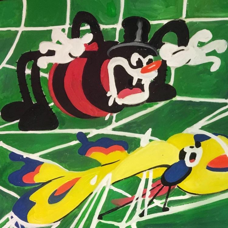 'Flying mouse', 2019, ett konstverk av Cookincrystlz