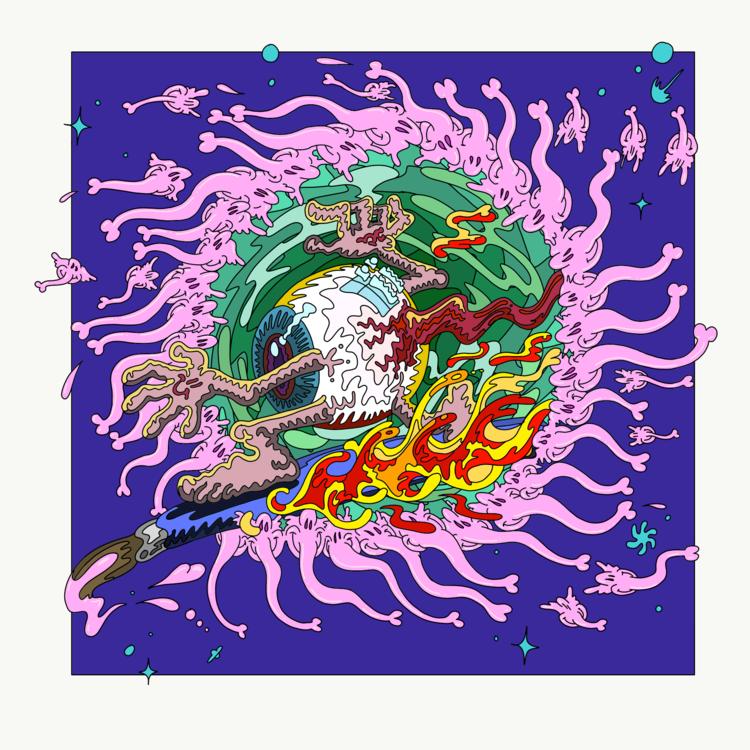 'Surfin', 2019, ett konstverk av Cookincrystlz