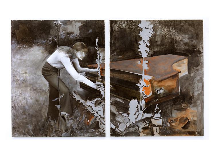 'Sound and silence', 2018, ett konstverk av Sixten Sandra