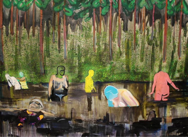 'Gathering', 2018, ett konstverk av Sixten Sandra