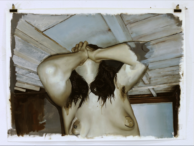 'Bärande bjälkar', 2018, ett konstverk av Sixten Sandra