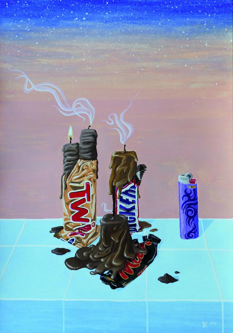 'Hot Cocoa', 2019, ett konstverk av Lisa Vaccino
