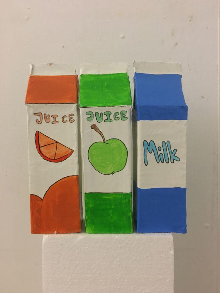 'Juice juice milk', 2019, ett konstverk av Alberte Skronski