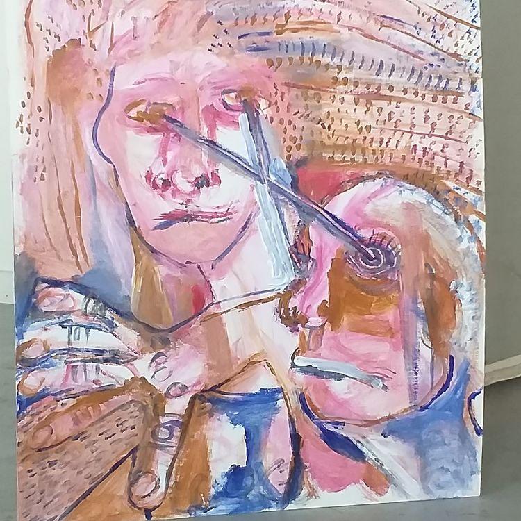 'Hit by looks / Träffad', 2019, ett konstverk av Jeanette Fyhr