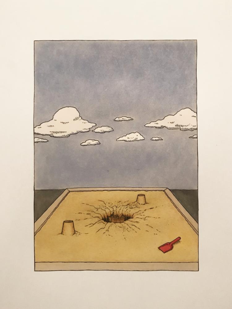 'Kvicksand', 2019, ett konstverk av Klara Björk Adamsson