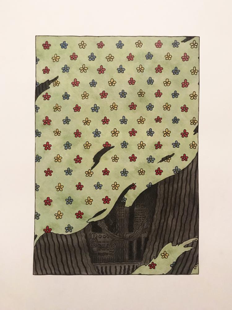 'Spöka', 2019, ett konstverk av Klara Björk Adamsson