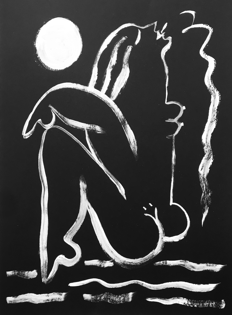'Luna #3', 2019, ett konstverk av Alexandra Karpilovski