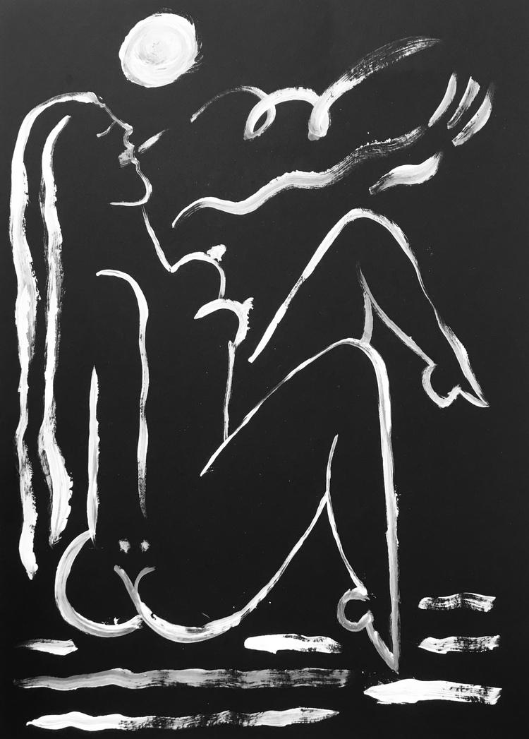 'Luna #2', 2019, ett konstverk av Alexandra Karpilovski