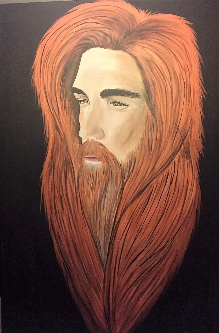 'Jesus', 2016, ett konstverk av Lotta Olofsson