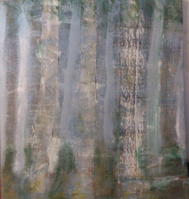 'Skogsbryn', 2018, ett konstverk av Iréne Hansson