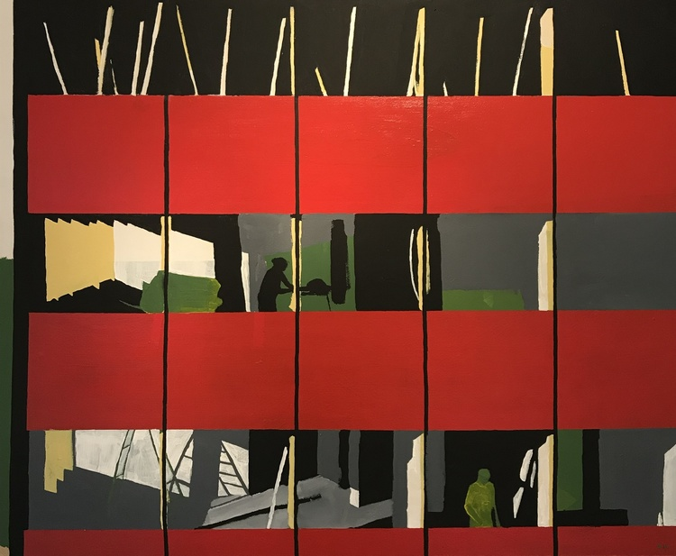 'Mittemot ', 2019, ett konstverk av David Norman