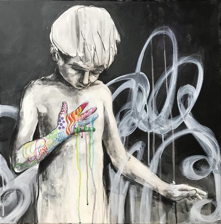 'Identity', 2019, ett konstverk av Kicki Edgren
