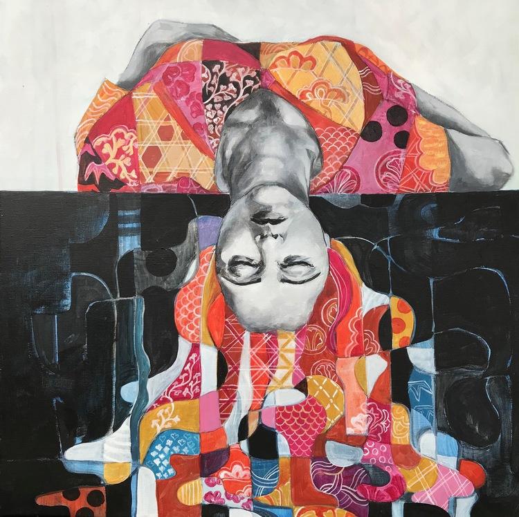 'Upside', 2019, ett konstverk av Kicki Edgren