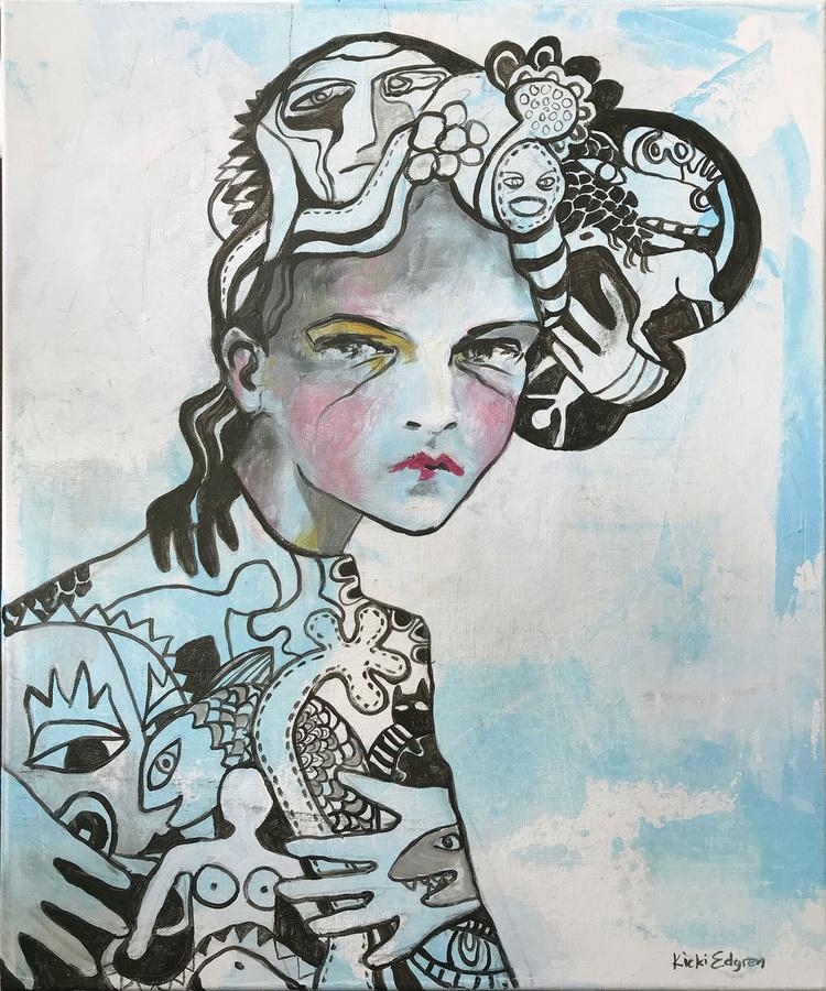 'White', 2019, ett konstverk av Kicki Edgren
