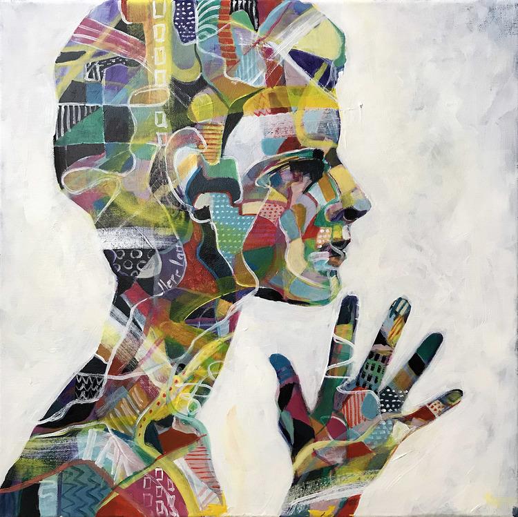 'Profile', 2019, ett konstverk av Kicki Edgren