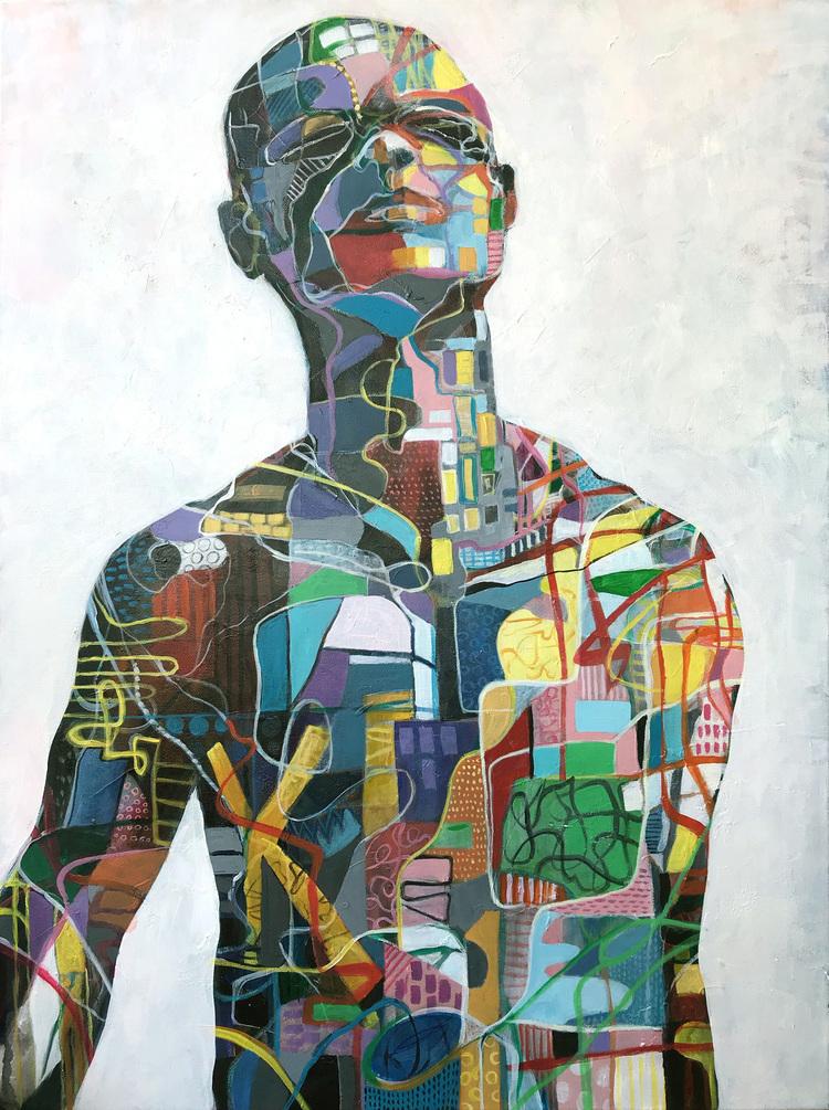 'Man', 2019, ett konstverk av Kicki Edgren