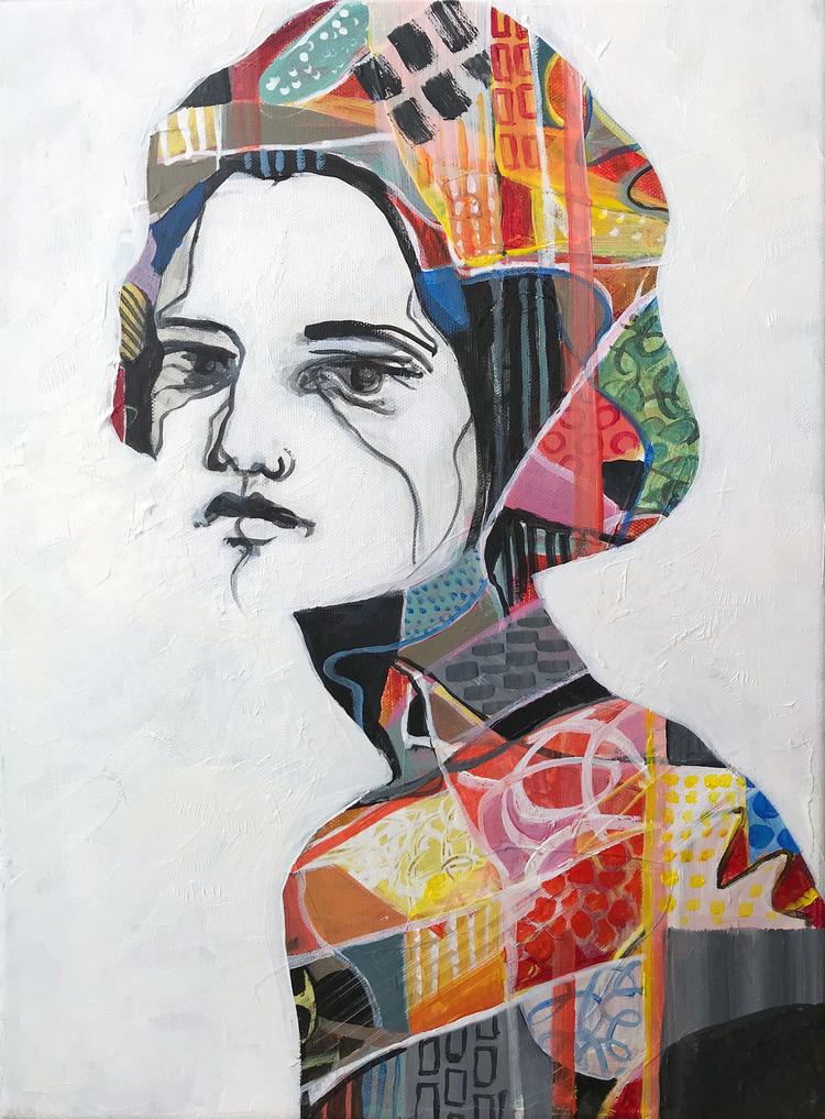 'Face', 2019, ett konstverk av Kicki Edgren