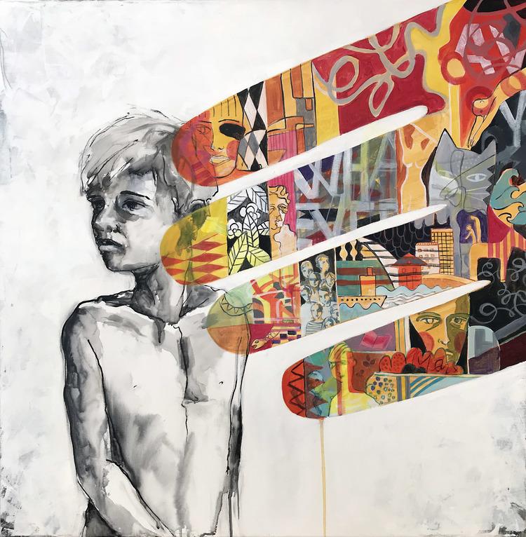 'Eventually', 2019, ett konstverk av Kicki Edgren