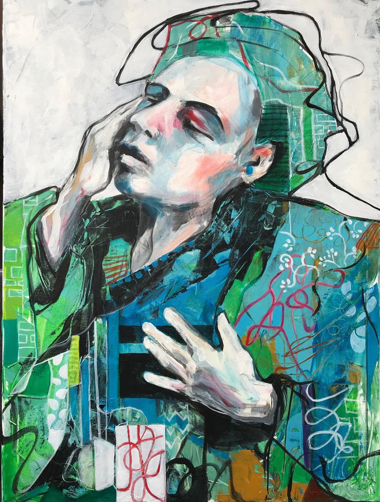 'Early', 2019, ett konstverk av Kicki Edgren