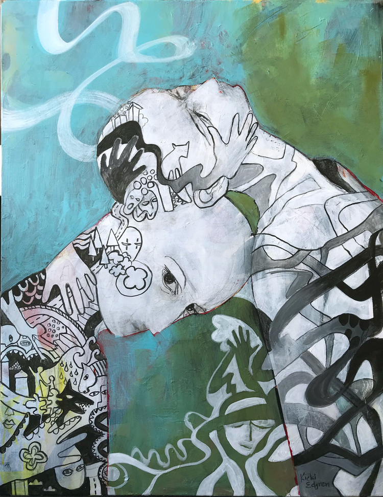 'Between us', 2019, ett konstverk av Kicki Edgren