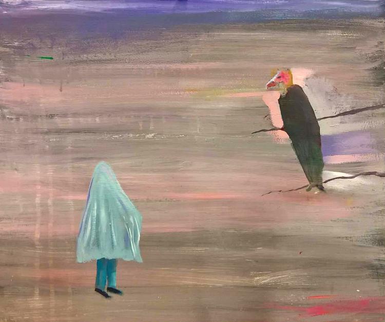 'Spöket och gamen', 2020, ett konstverk av Gertrud Alfredsson