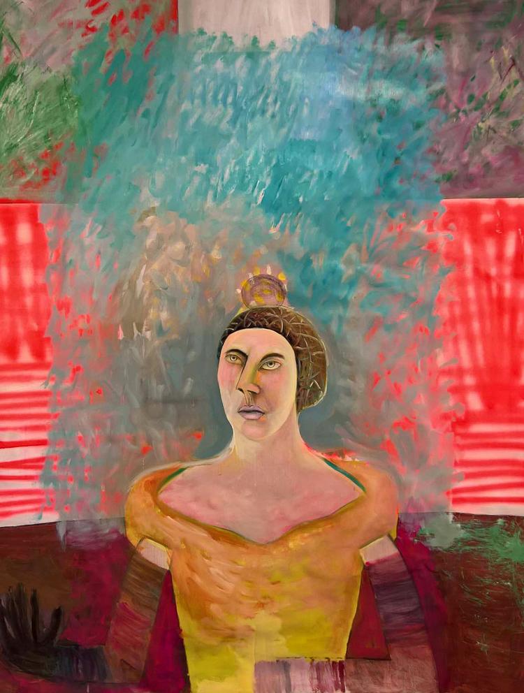 'Ett porträtt', 2020, ett konstverk av Gertrud Alfredsson