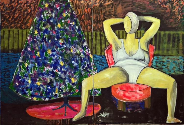 'Paus', 2020, ett konstverk av Gertrud Alfredsson