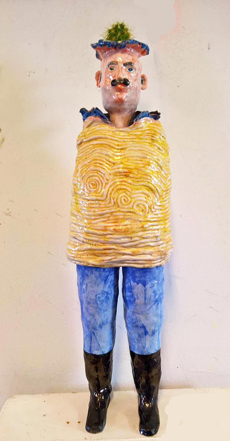 'Lyckogubben', 2020, ett konstverk av Gertrud Alfredsson