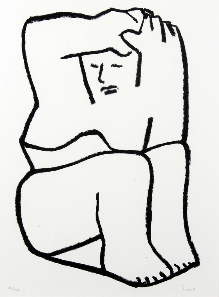 'Litograph  1990', 1990, ett konstverk av Örjan Wallert