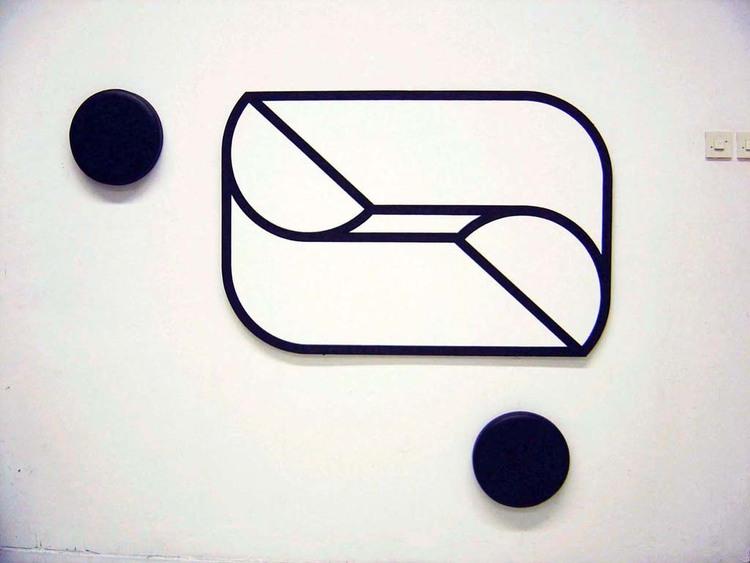'GEOMETRIC PAINTING WITH PADS', 2010, ett konstverk av Örjan Wallert