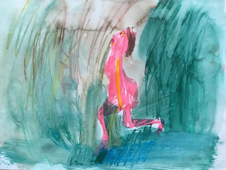 'WOOD-LADY II', 2020, ett konstverk av Lilian Bäckman