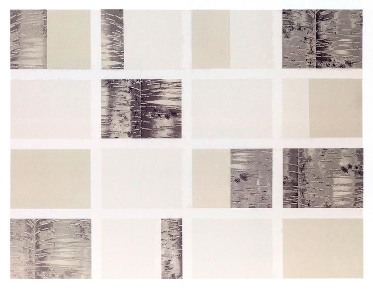 'Variationer med trädstam', 2020, ett konstverk av Nils-Erik Mattsson