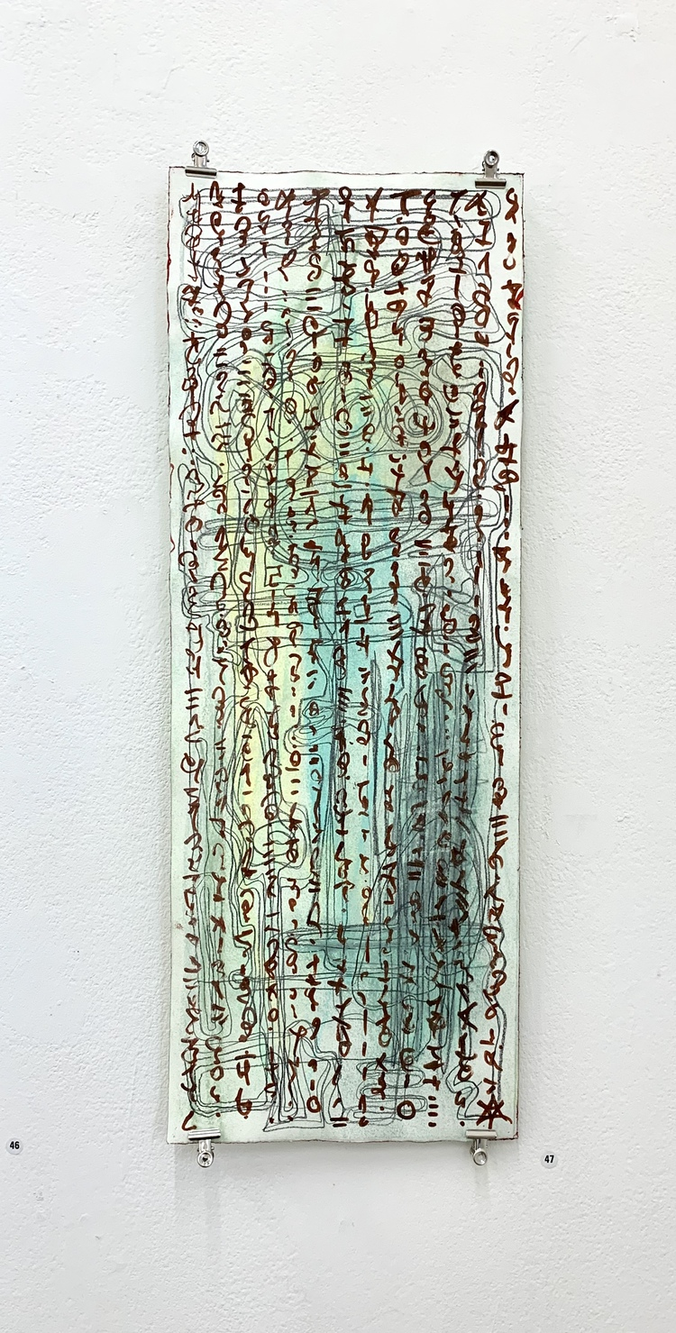 'Nedtecknat', 2020, ett konstverk av Helena Burman
